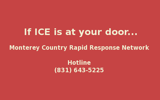 If ICE is at your door